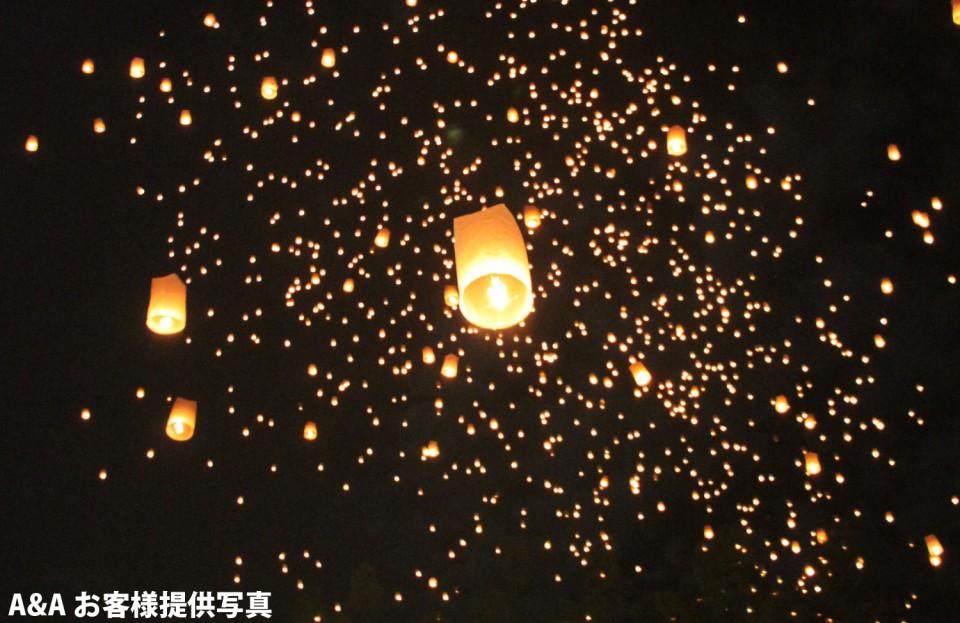 タイのロイクラトン祭り・コムローイあげのご紹介