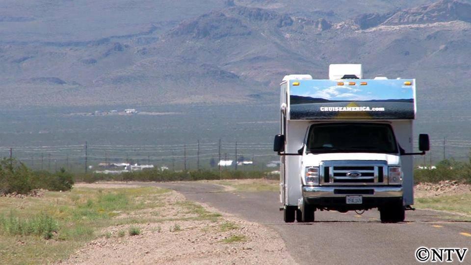 現在、テレビ番組で『アメリカ横断モーターホームの旅』を放映中!
