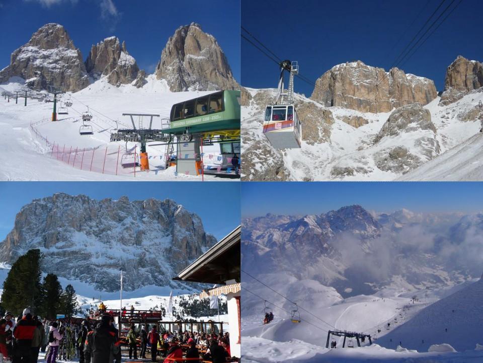 世界最大のスキー場・ドロミテ・スーパースキー