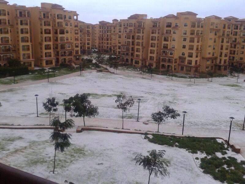 エジプト・カイロで100年ぶりの雪