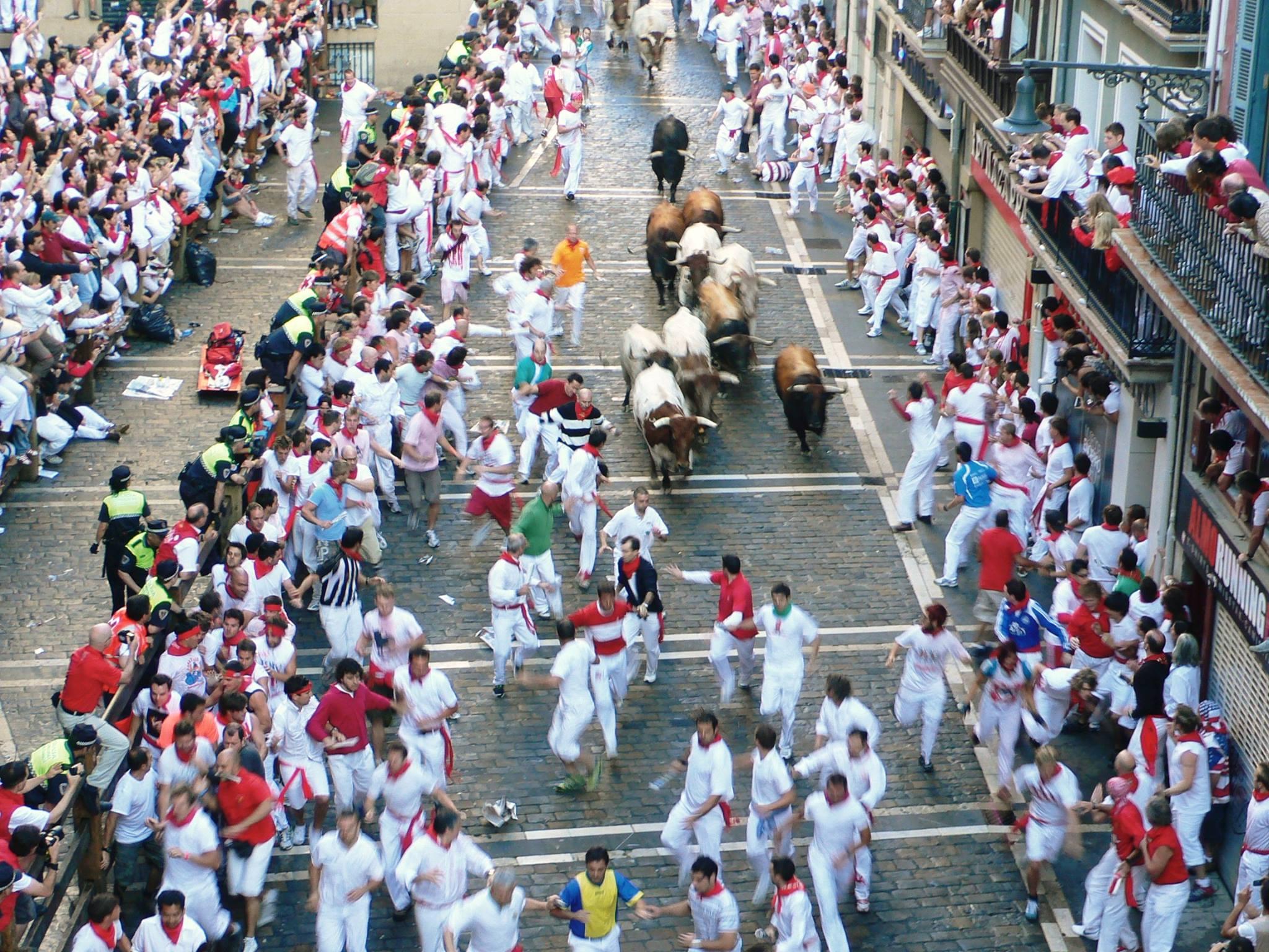 牛追い祭り(パンプローナ)