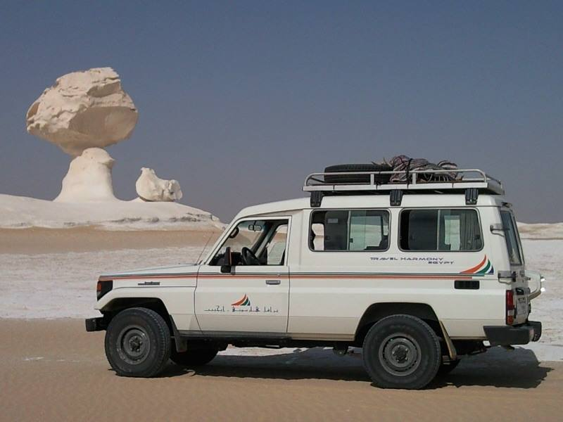 エジプトのおすすめ観光地、白砂漠・黒砂漠について