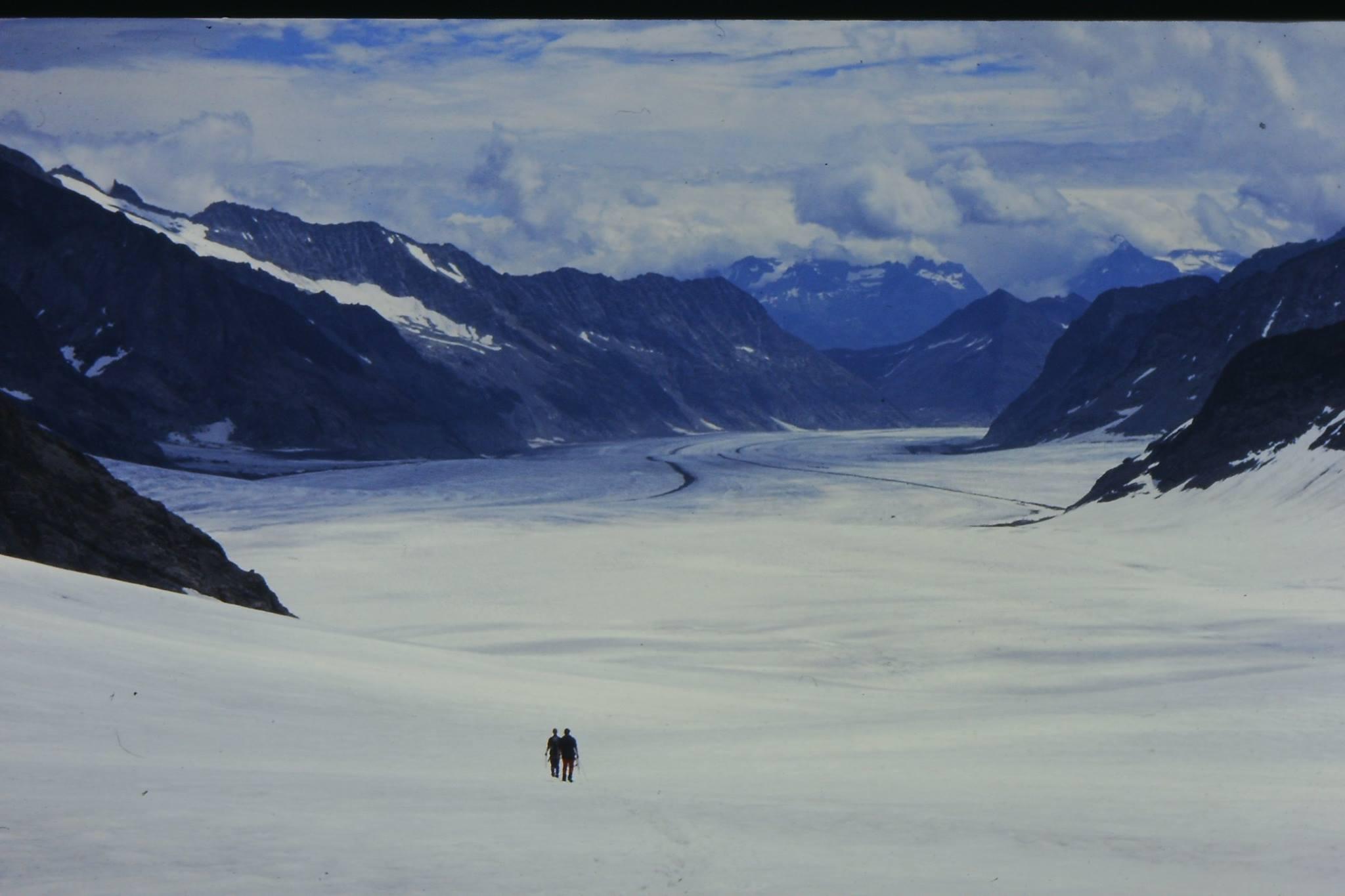 ヨーロッパアルプス最大のアレッチ氷河
