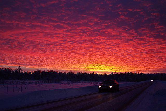 北欧フィンランドの初日の出