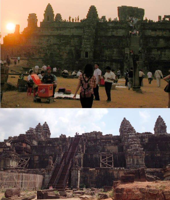 プノンバケン遺跡は日中訪れるとガラガラです