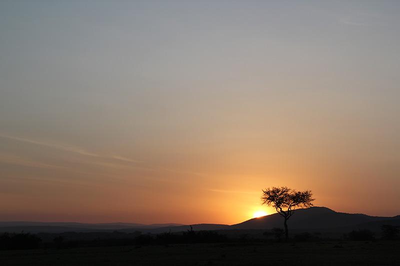 ケニアの初日の出