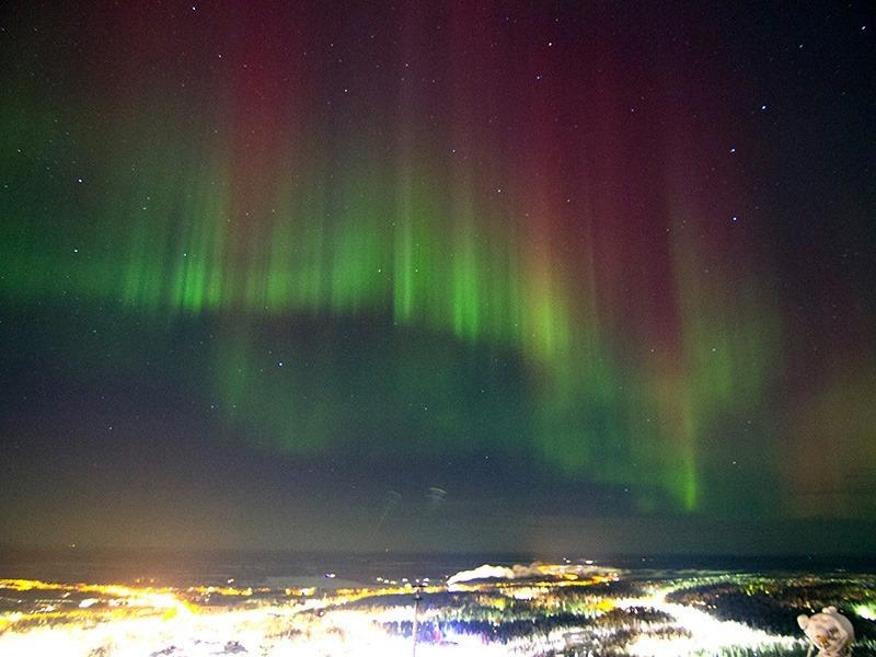 フィンランド・レヴィのオーロラ観測