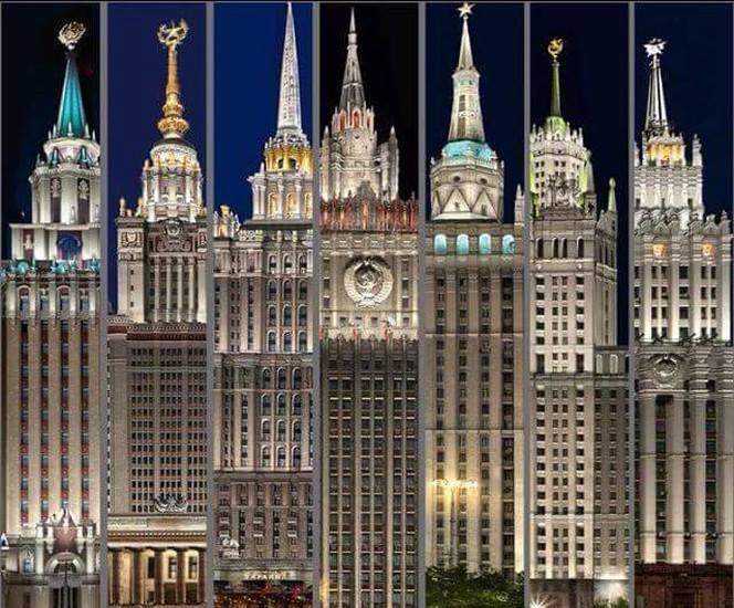 モスクワの有名な建築物 -スターリン7姉妹-