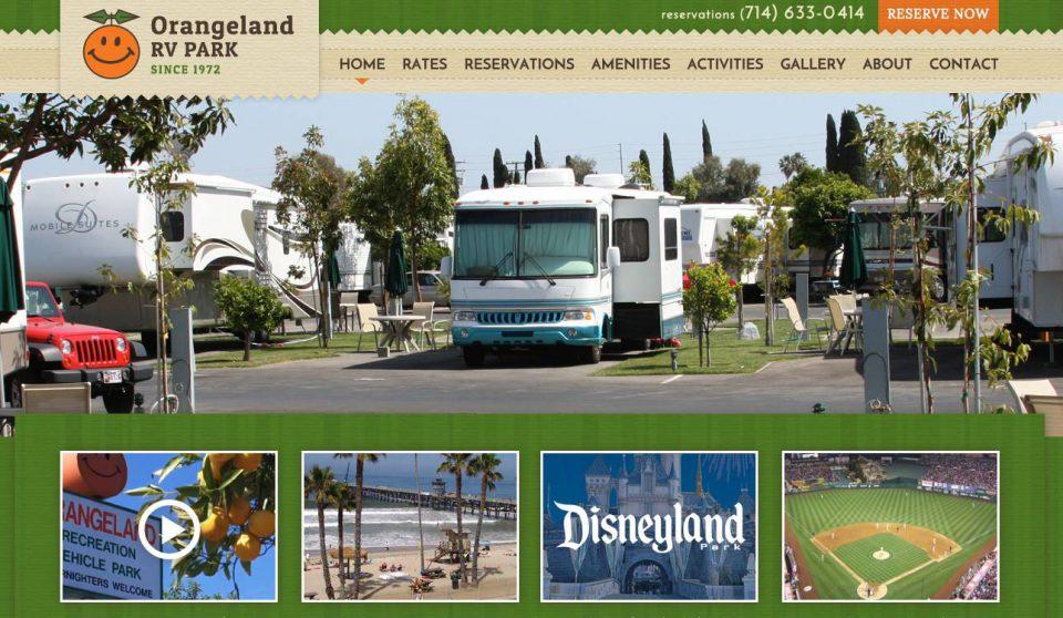 大谷所属のアナハイムエンゼルス本拠地、エンゼル・スタジアムに一番近いRVパーク